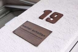 Firmenschild Werner Scholten